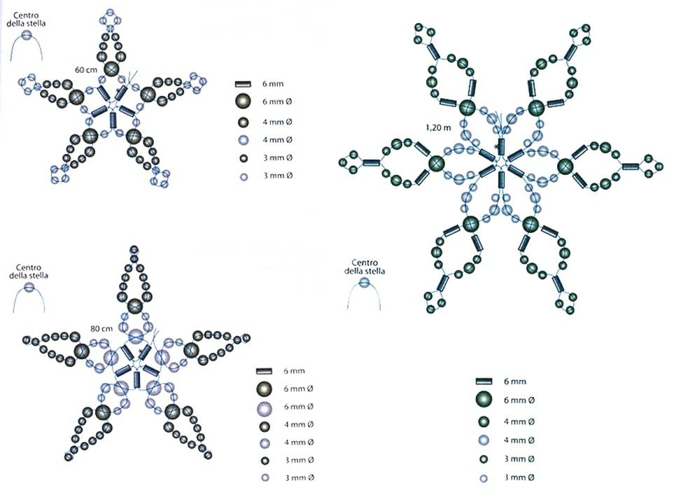 Снежинка схема плетения
