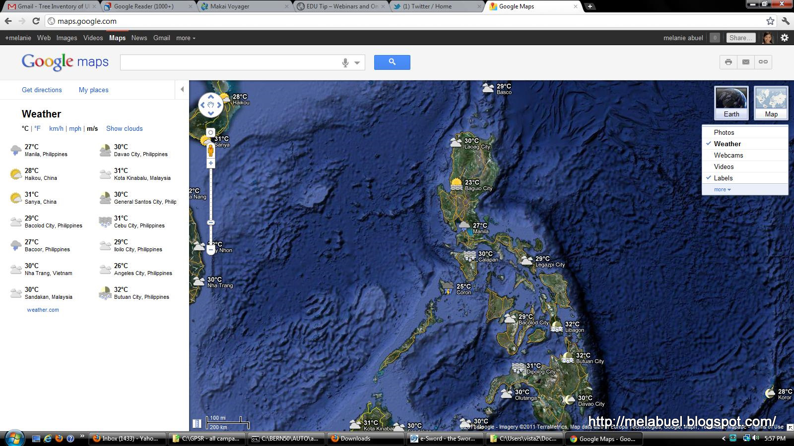 GIS GPS Geodesy Bookmark: How to Check weather in the Philippines ...