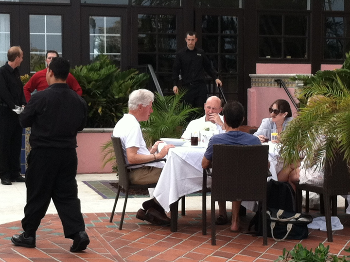 Bubba and Blankfein do lunch at the Boca Raton Resort And Country Club.