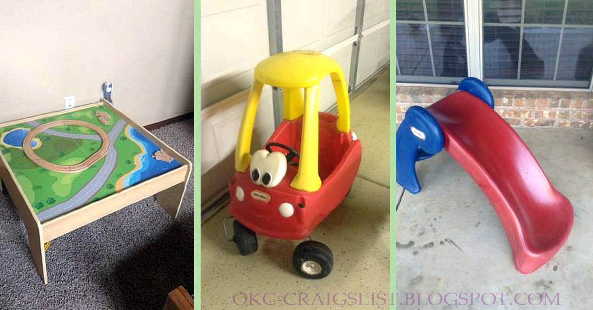 Cozy coupe car, Little Tikes slide, train table - $20 ...