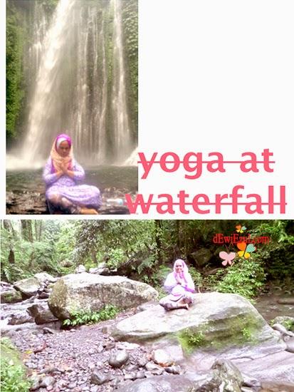 Yoga di air terjun tiu kelep lombok