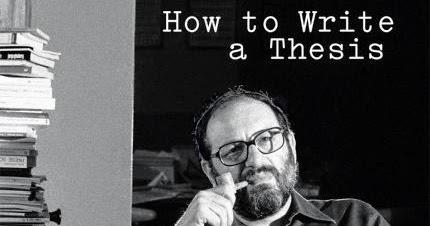 How to write a thesis umberto eco