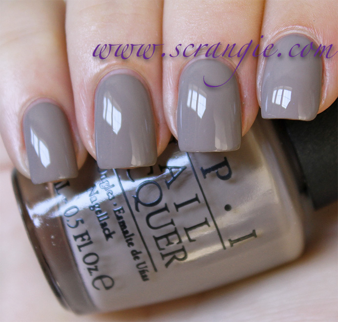 Opi Berlin There Done That A Purple Tinged Grey Creme It S Pretty Light And The Is Subtle