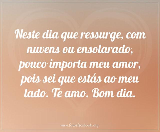 Bom dia Meu Amor - Enviar para Facebook e Whatsapp