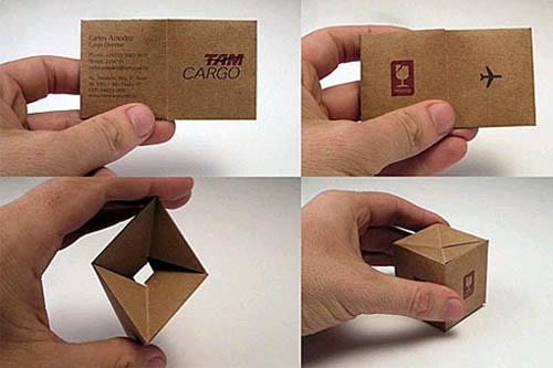 Cartões de visita criativos - Tam Cargo - Logística