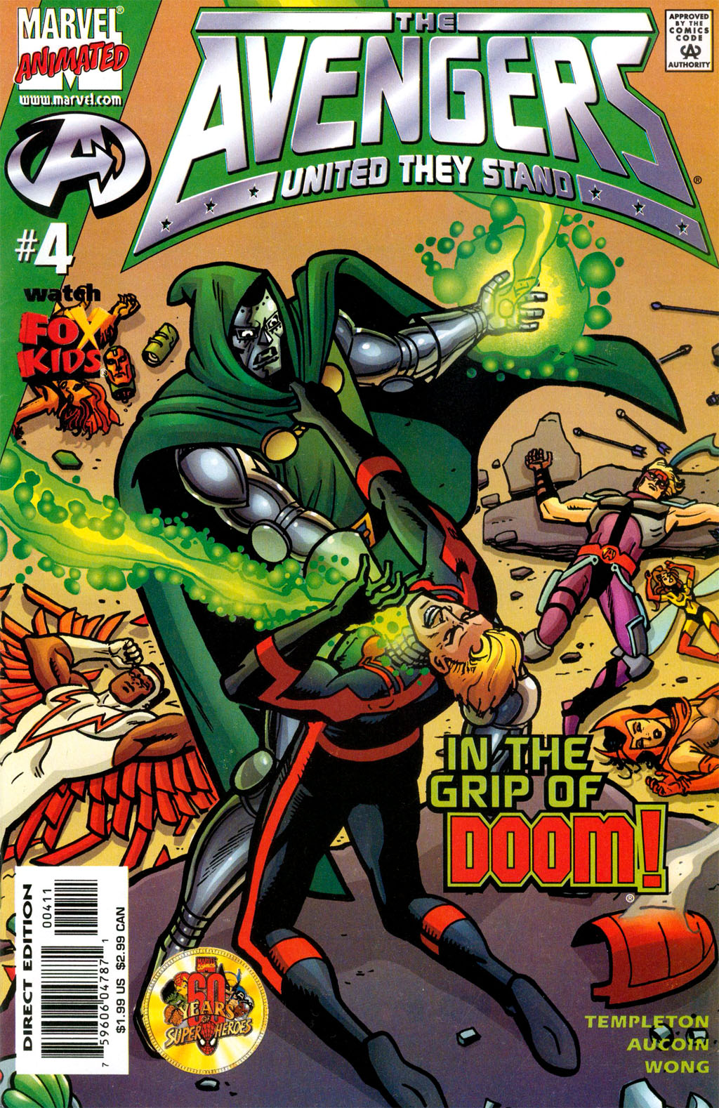 Read online Avengers United They Stand comic -  Issue #4 - 1