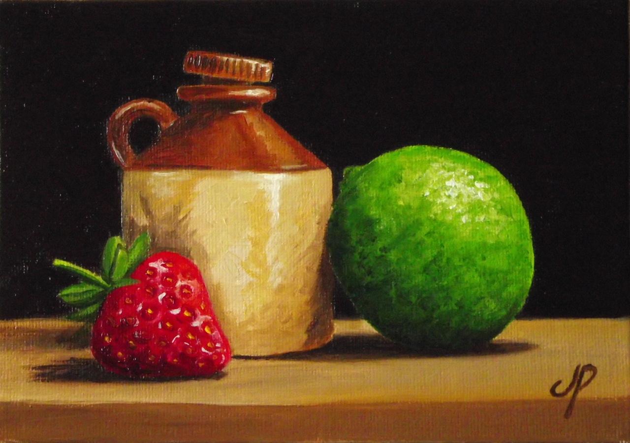 dessin et peinture video  peindre a l huile une nature morte fraise