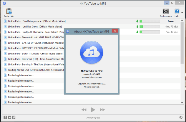 تحميل 4K YouTube to MP3 اخر اصدار + Patch + Portable
