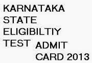 Karnataka SET Admit Card 2013