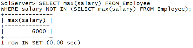 How to find second highest or maximum salary of Employee in SQL - Interview question