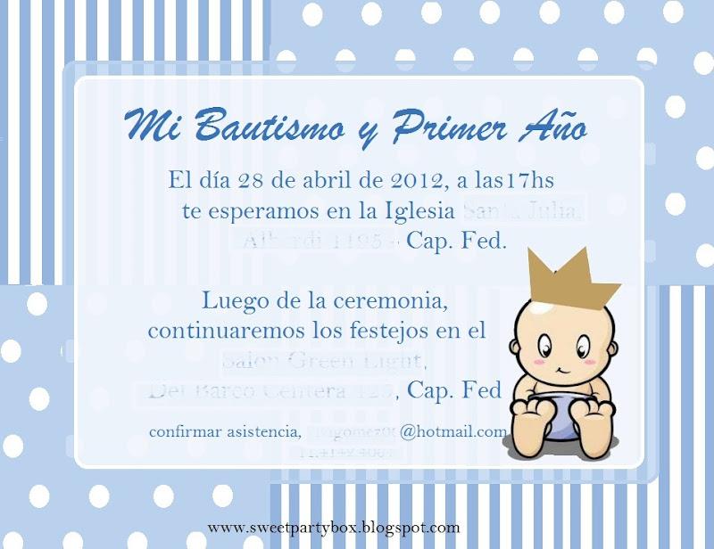 Invitaciónes de bautizo y primer cumpleaños - Imagui