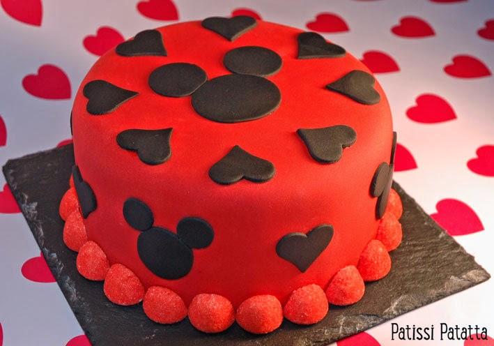 cake design, gâteau mickey, pâte à sucre, gumpaste, recette de gâteau vanille et nutella, Mickey cake recipe