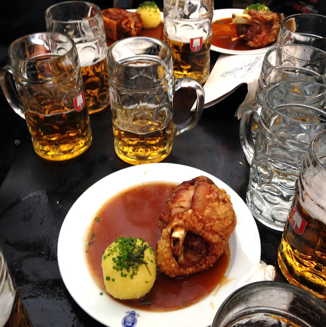 Oktoberfest beer and Pork Knuckle