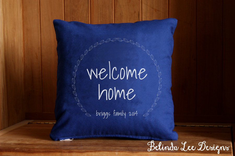 Housewarming Gift Welcome Home | Personalized with Name and Date | 16 x 16 inch Insert and US Shipping Included | Belinda Lee Designs