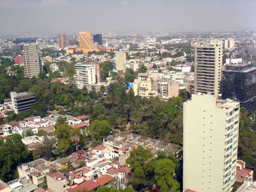 Architektur in Polanco in Mexiko-Stadt
