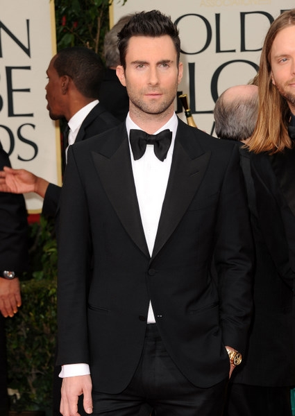 Adam+Levine+ +in+Tom+Ford+Suit+at+Golden+Globes