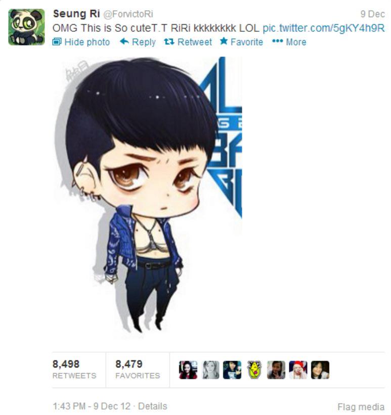 Seungri's tweet 121209