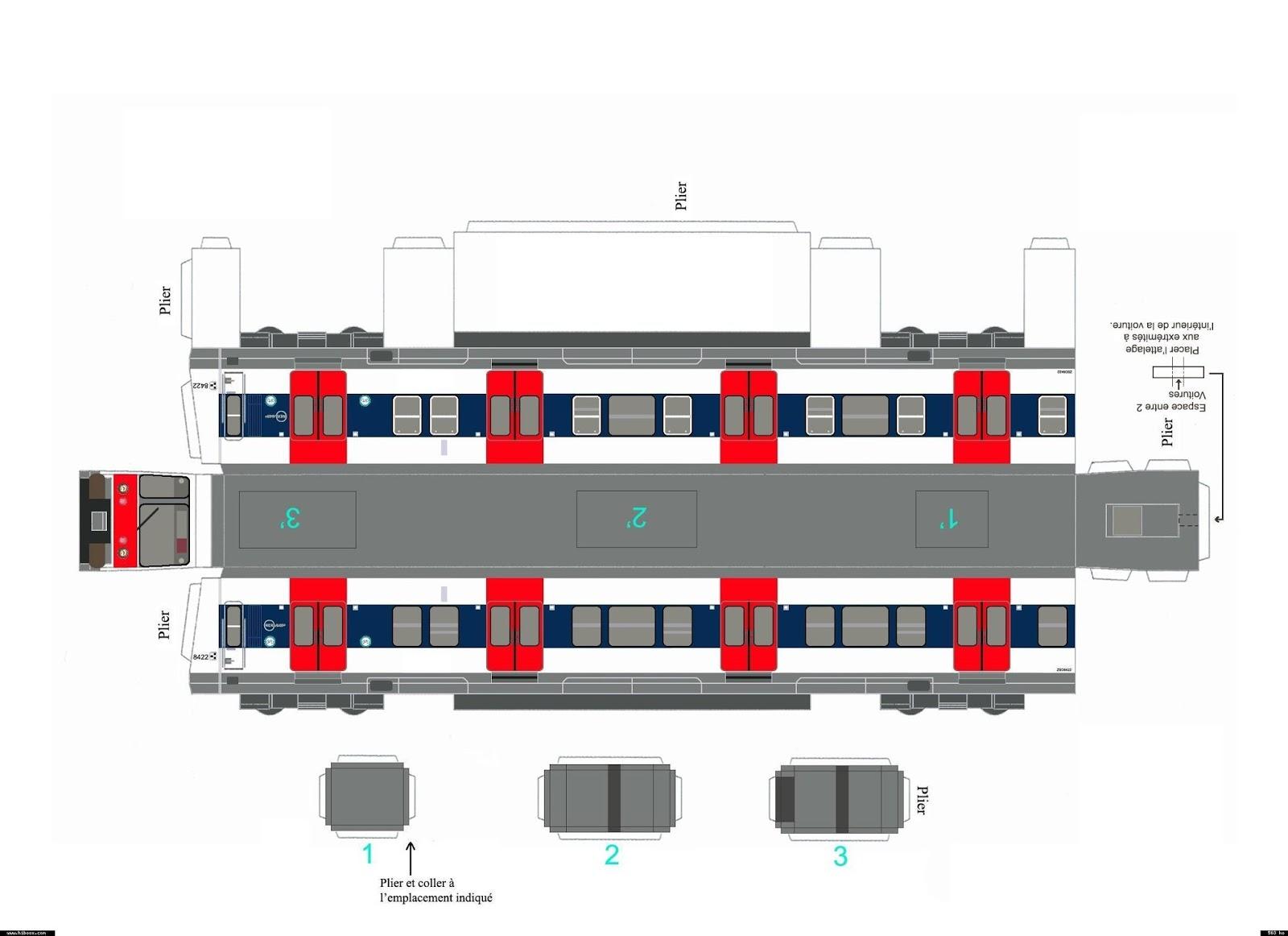 Maquette papier mi84 - Dessiner un bus ...