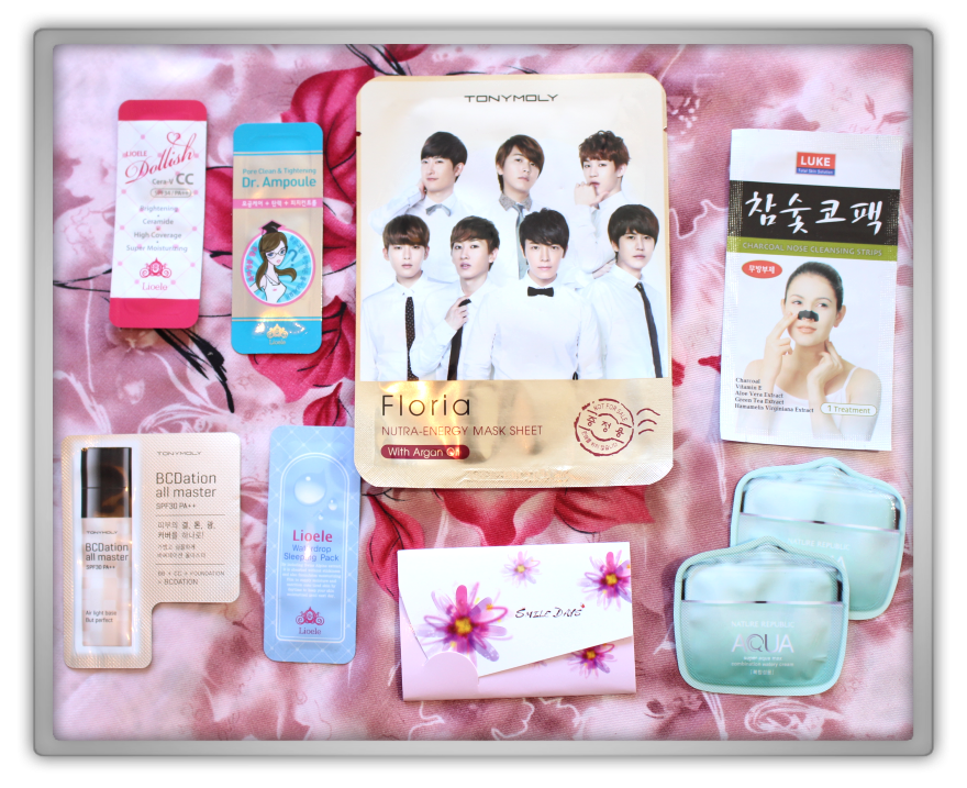 Jolse Special Korean cosmetics haul review 2015 preview makeup beauty blogger Etude House samples tony moly mask lioele