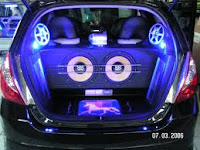 Modifikasi audio Honda Jazz terbaru