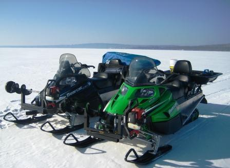 Snowmobile Auger Rack5