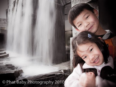 Baby Photography Waterfall