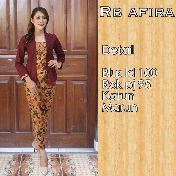 Harga Baju Batik Rok dan Blouse RB Afira
