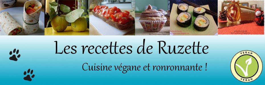 Les recettes véganes de Ruzette