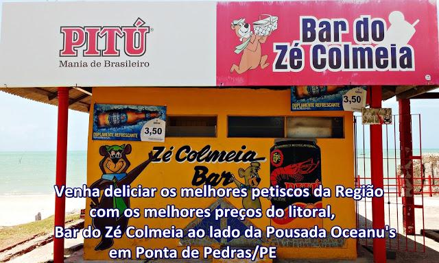 Divulgação: Bar do Zé Colmeia em Ponta de Pedras - PE