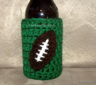 Swirls and Sprinkles:  Free crochet game day beverage Kozie pattern
