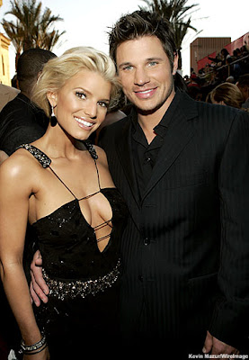 Jessica Simpson with Nick Lachey