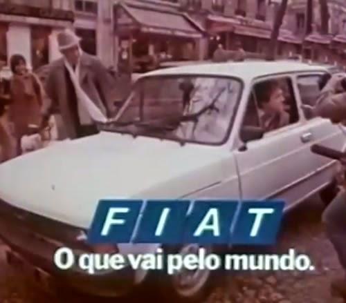 Propaganda da Fiat em 1982 para promoção da venda de seus automóveis fora do Brasil.