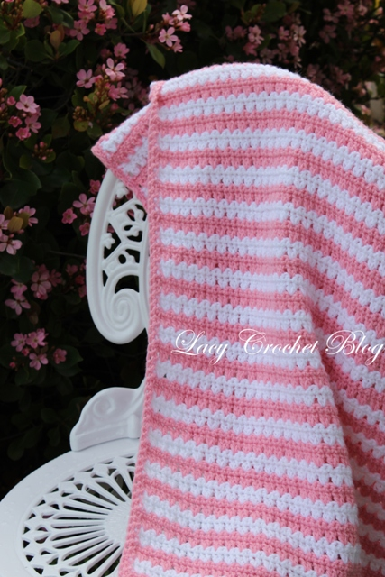 Free Crochet Pattern For Lacy Baby Blanket : Lacy Crochet: Garden Stripes Baby Blanket or Possibly ...