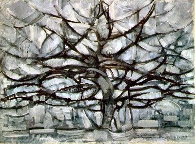 Arbol gris de Piet Mondrian