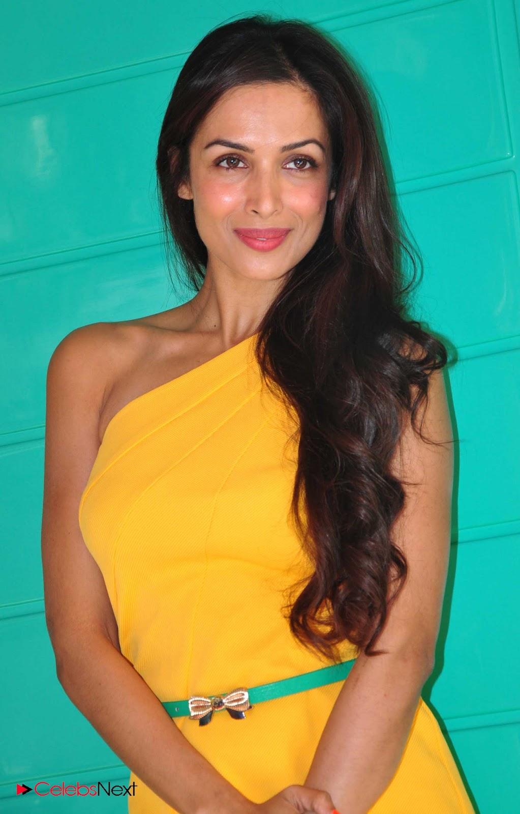 Malaika Arora Photos in Yellow One Shoulder Short Dress at Rakhee