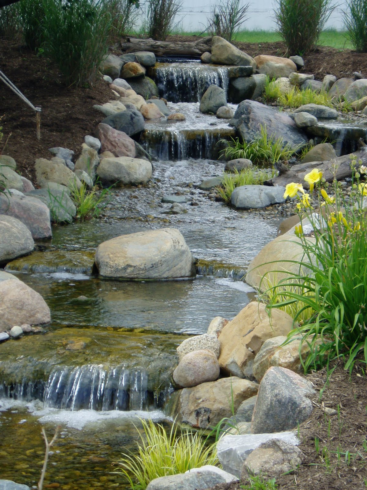Pond free waterfalls are cool for Pond water features