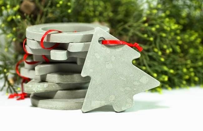 Adornos de Navidad con Cemento Reciclado