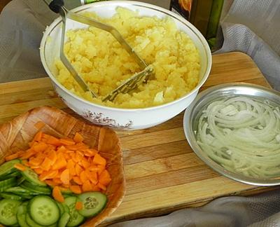 Картофельный салат с майонезом