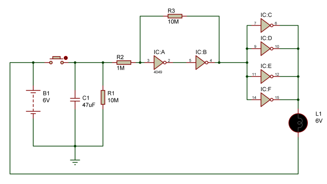 cupboard-lighting-circuit-using-cd4049-ic