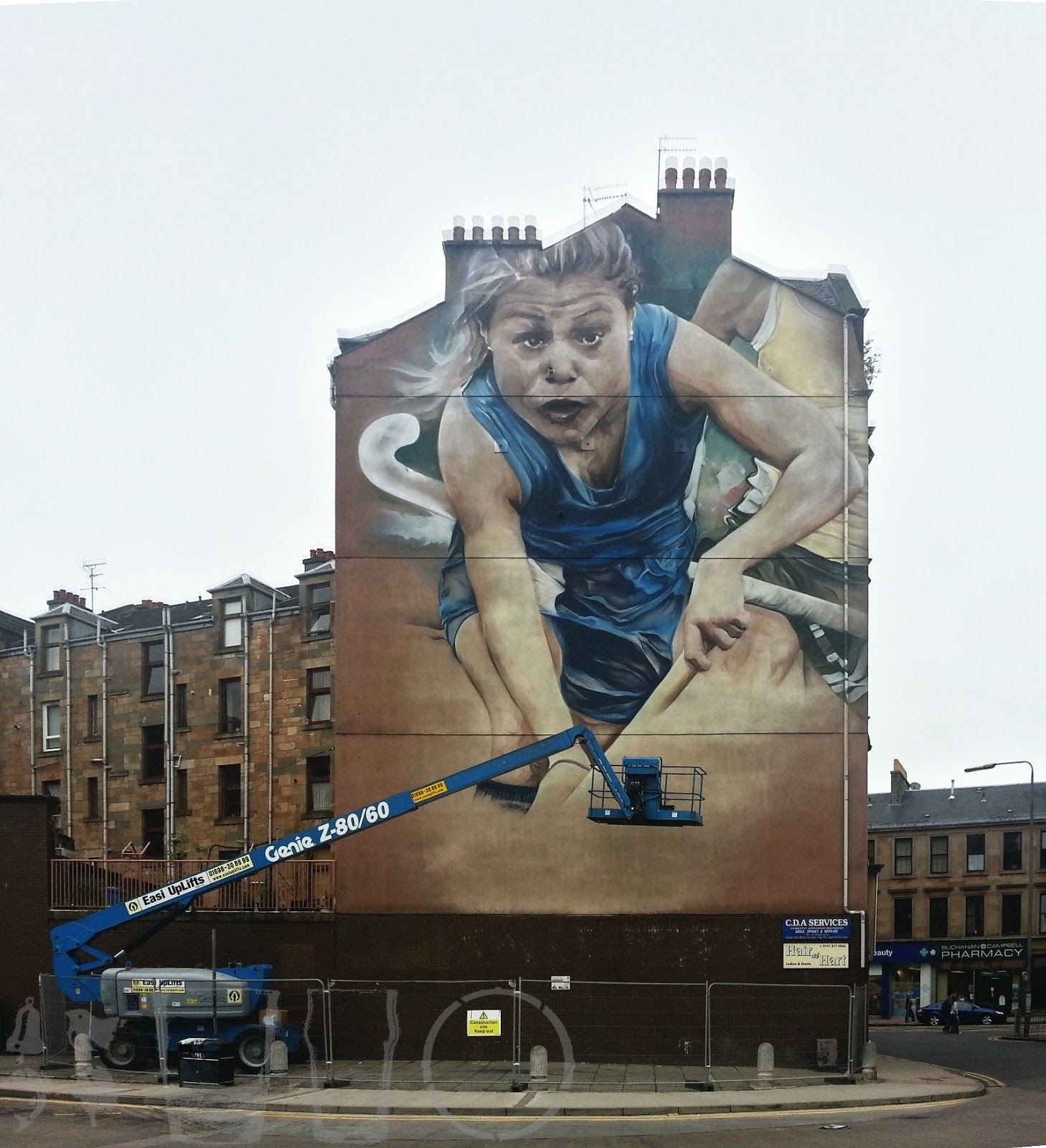 2014 hockey mural, Partick , Glasgow