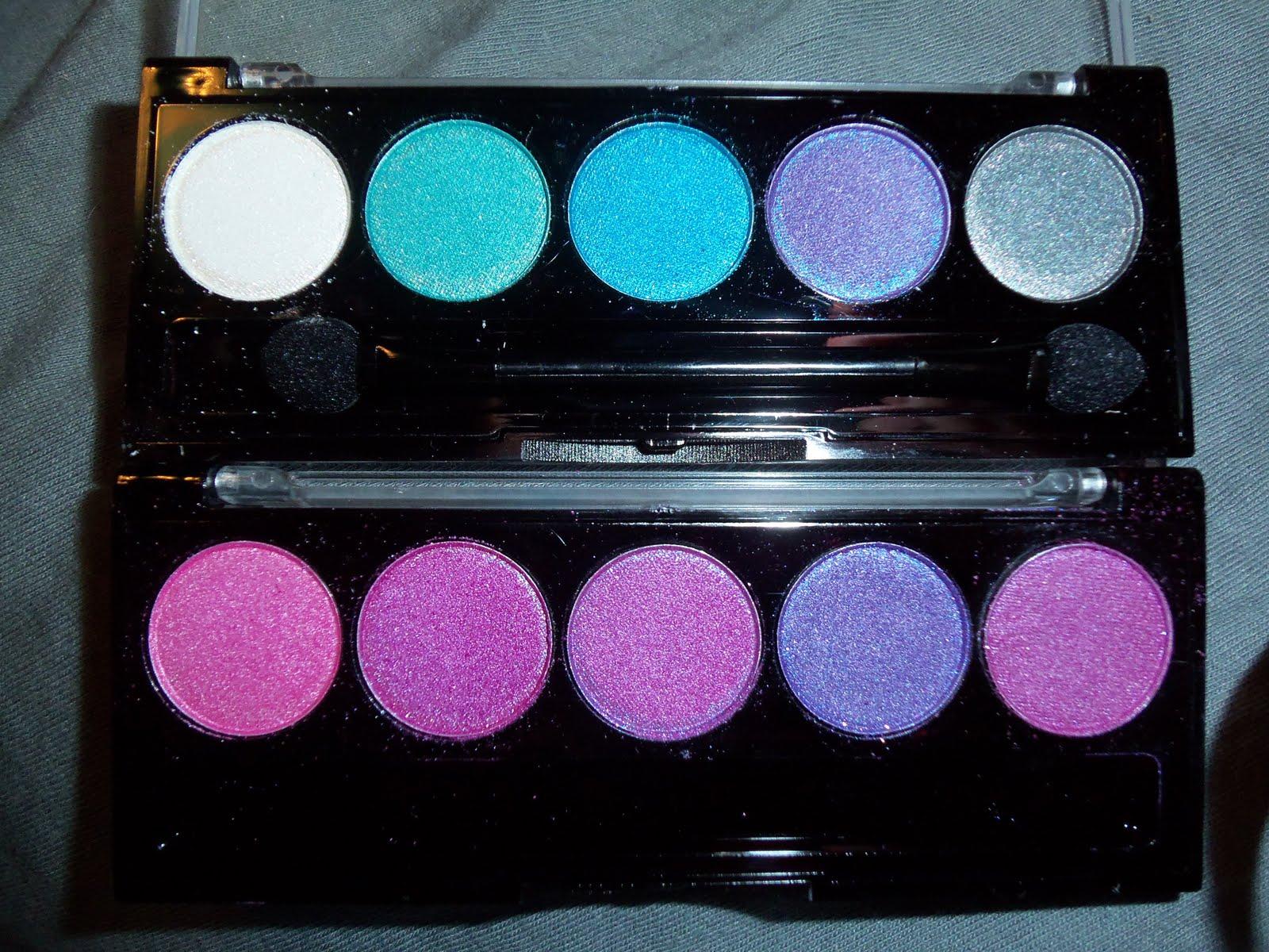 LA Colors 5 Color Metallic Eyeshadow Palette in Soiree, Ocean ...