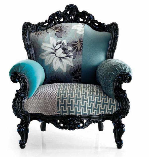 Fauteuil baroque canap fauteuil et divan - Stoel dineren baroque ...