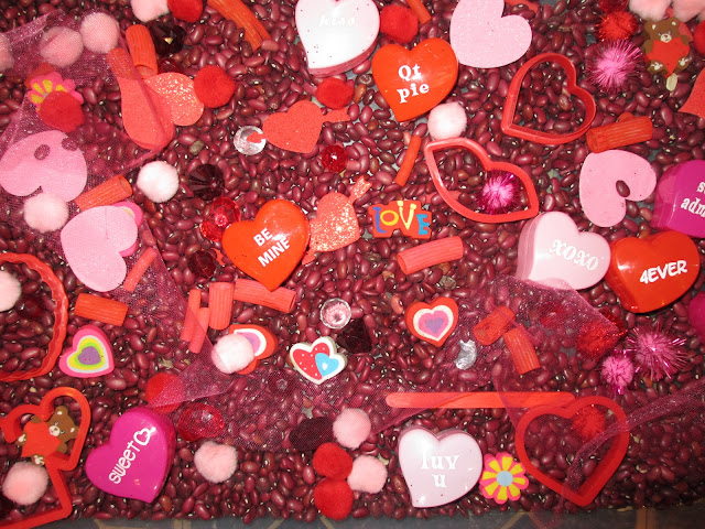 Valentine's Day activities sensory bin