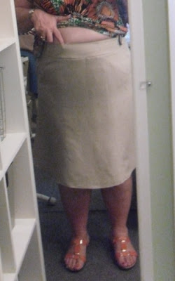 The skirt has 6 gores, 3 front and 3 back. Ordinarily, I probably