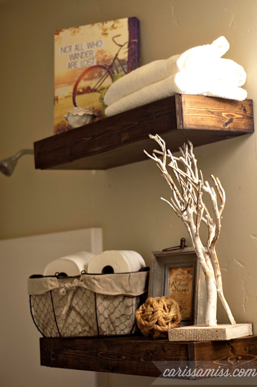 Carissa Miss: DIY Chunky Bathroom Shelves