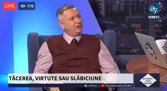 A7 TV: TĂCEREA, VIRTUTE SAU SLĂBICIUNE 🔴 Invitat: Florin Ianovici, jurist, psiholog și teolog