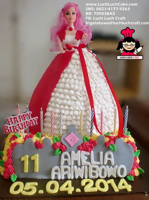 Kue Tart Princess Barbie