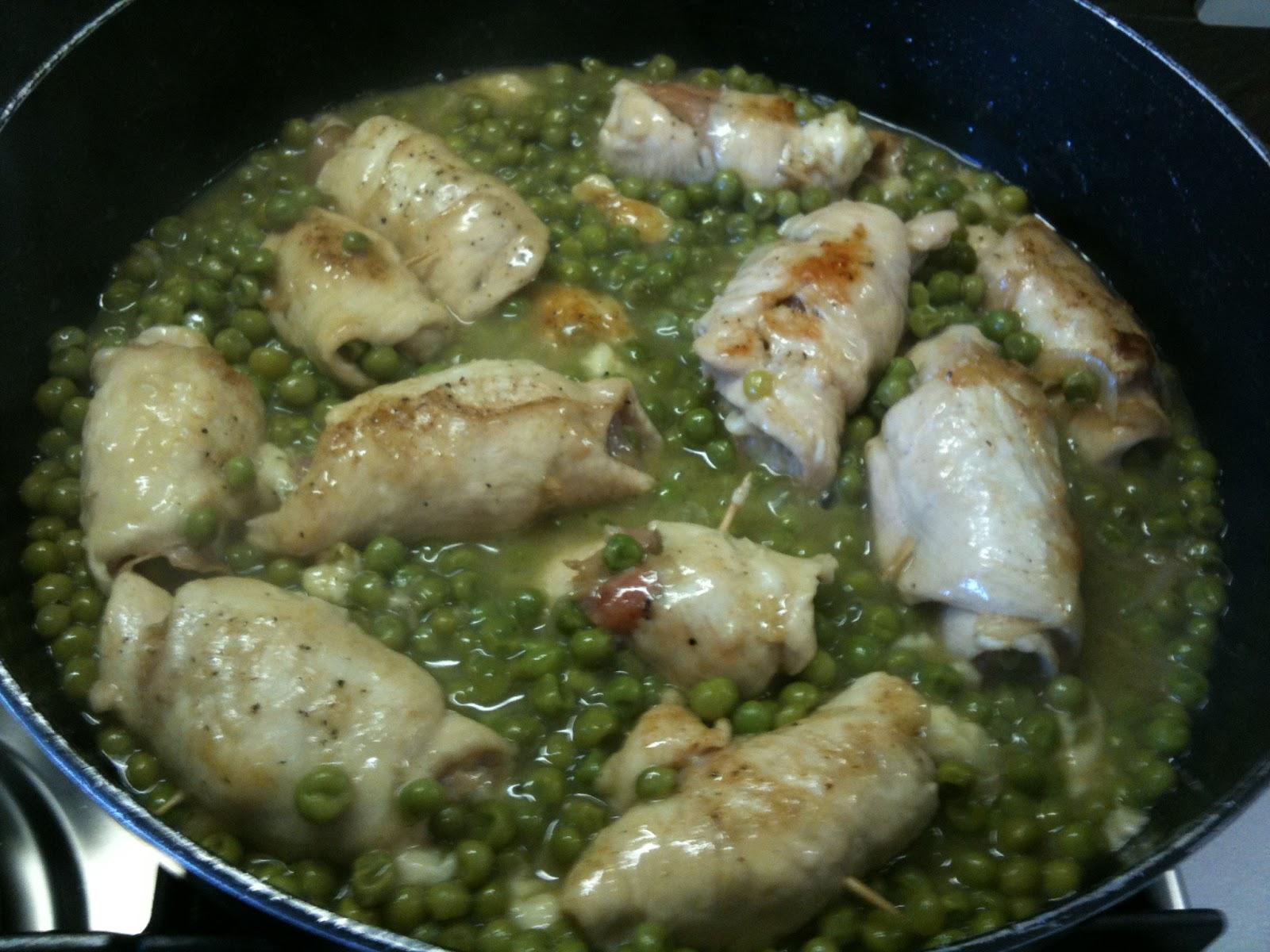 Ricetta di petto di pollo con piselli