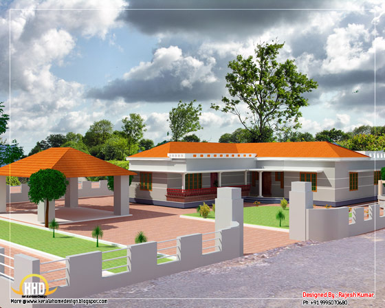 Single floor L shape home - 1500 Sq. Ft. (139 Sq. M.) (167 Square Yards)-  March 2012