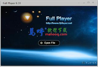 Full Player Portable 免安裝版下載,影片播放器可自動下載字幕,支援 MKV播放、RM檔、MP4